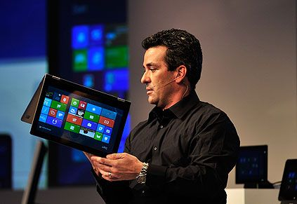 Microsoft Windows 8 on a tablet