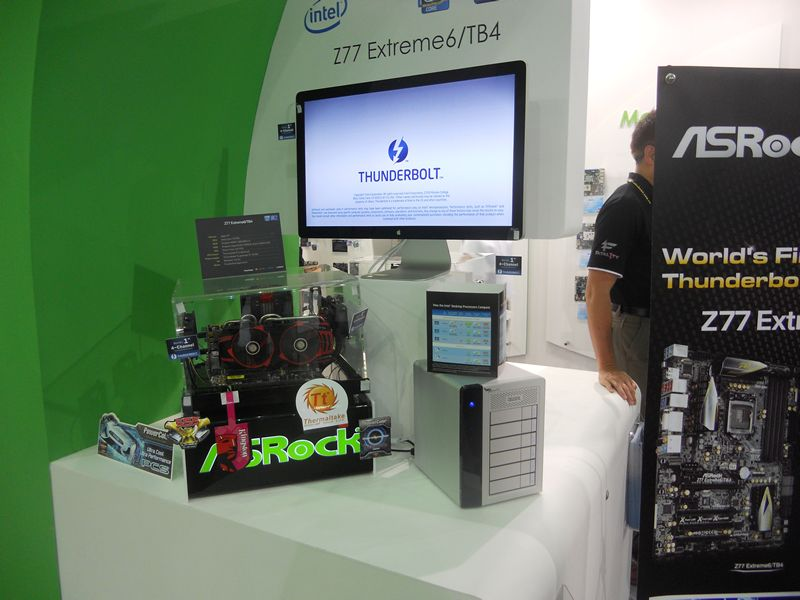 Asrock's Thunderbolt system at Computex