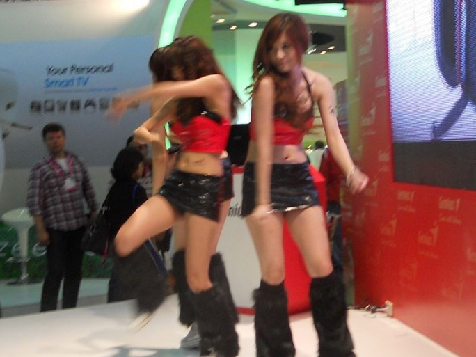 ECS show girls at the Computex 2012 show