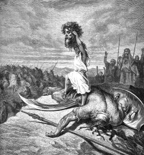 David slays Goliath - Gustave Doré (1832-1883)