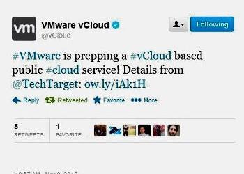 VMware vCloud Tweet