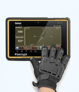 Getac Becrypt ruggedised tablet