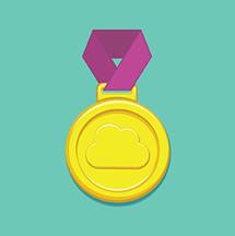 Cloud gold medal