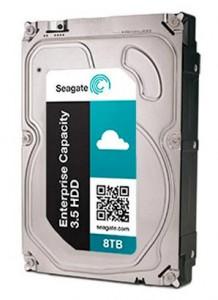 Seagate 8TB drive angled