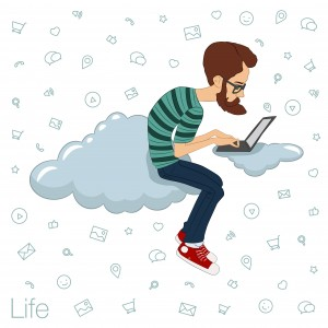 cloud-computing-worker cloud tech city geek hipster